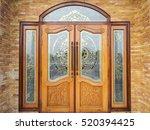 Wooden Doors On Bricks Wall....