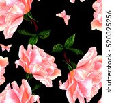 a seamless pattern with a... | Shutterstock . vector #520395256