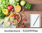 Fresh Salad Vegetables And...