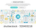 vector modern line flat design...   Shutterstock .eps vector #520403218