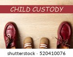 shoes of father and kid with... | Shutterstock . vector #520410076