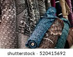 colorful fabric as a vibrant... | Shutterstock . vector #520415692