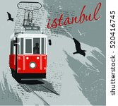 traditional turkish public tram ... | Shutterstock .eps vector #520416745