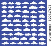 cloud set design clean vector | Shutterstock .eps vector #520417675