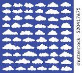 cloud set design clean vector | Shutterstock .eps vector #520417675