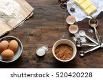 baking ingredients for a... | Shutterstock . vector #520420228