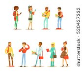 university and college students ... | Shutterstock .eps vector #520427332
