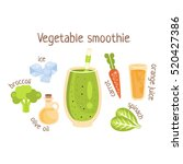 vegetable smoothie infographic... | Shutterstock .eps vector #520427386