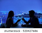 young couple at restaurant... | Shutterstock . vector #520427686