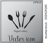 cutlery vector icon | Shutterstock .eps vector #520429285