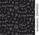 birthday doodle pattern | Shutterstock .eps vector #520430395