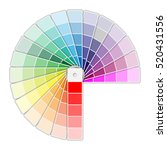 color palette icon isolated on... | Shutterstock . vector #520431556