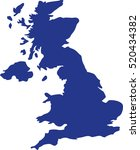 united kingdom map | Shutterstock .eps vector #520434382