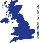 united kingdom map | Shutterstock .eps vector #520434382