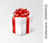 gift box with red ribbon... | Shutterstock .eps vector #520434712