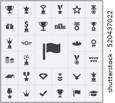 flag icon. award icons... | Shutterstock .eps vector #520437022