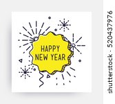 merry christmas new year design ... | Shutterstock .eps vector #520437976