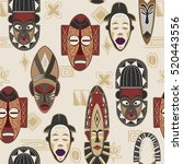 African Mask Pattern And The...