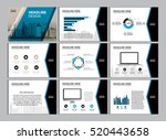 page layout design template for ... | Shutterstock .eps vector #520443658