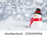 smiles of happiness snowman ... | Shutterstock . vector #520443946