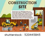construction site. the... | Shutterstock .eps vector #520445845