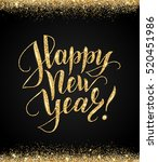 black and gold happy new year... | Shutterstock .eps vector #520451986