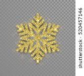 snowflake with gold glitter... | Shutterstock .eps vector #520457146