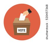 voting concept in flat style  ... | Shutterstock .eps vector #520457368