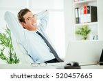 young successful businessman... | Shutterstock . vector #520457665