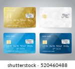 realistic detailed credit cards ... | Shutterstock .eps vector #520460488