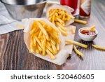 fresh fried french fries   Shutterstock . vector #520460605