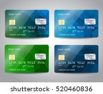 realistic detailed credit cards ... | Shutterstock .eps vector #520460836