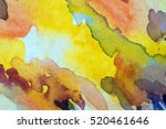 abstract watercolor painted... | Shutterstock . vector #520461646