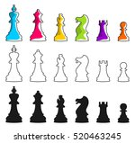 Set Of Vector Chess Icons....