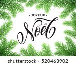 french merry christmas joyeux... | Shutterstock .eps vector #520463902