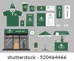 corporate branding for coffee... | Shutterstock .eps vector #520464466