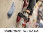 climbing shoes in boulder...   Shutterstock . vector #520465165