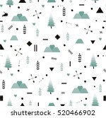 seamless pattern with cute... | Shutterstock .eps vector #520466902