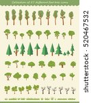 big collection of tree... | Shutterstock .eps vector #520467532