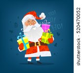 ho ho ho  cheerful santa claus... | Shutterstock .eps vector #520470052