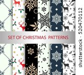 set of vector christmas... | Shutterstock .eps vector #520470112