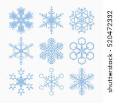 collection of snowflakes vector ... | Shutterstock .eps vector #520472332
