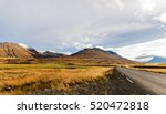 curve at iceland mountains | Shutterstock . vector #520472818