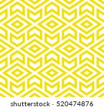 Stock vector the geometric pattern with triangles seamless vector background yellow and white texture graphic 520474876