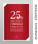 christmas card. vector template ... | Shutterstock .eps vector #520476436