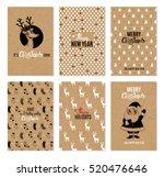 christmas hand drawn vector... | Shutterstock .eps vector #520476646