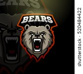 mascot grizzly bear logo for a... | Shutterstock .eps vector #520484422
