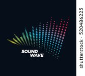 music logo concept sound wave ... | Shutterstock .eps vector #520486225