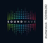music logo concept sound wave ... | Shutterstock .eps vector #520486282