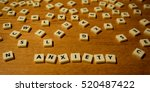 anxiety letters spaced | Shutterstock . vector #520487422